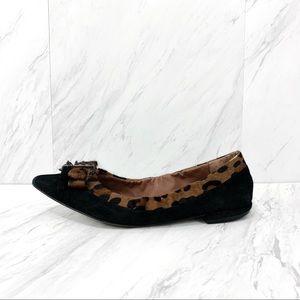 Sam Edelman- Hera Black Leopard Suede Flat 7.5